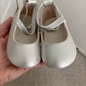 Silver baby shoes. Gently used.